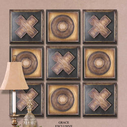 "13540 Tic-Tac-Toe, Set/9 by Uttermost - Get 10% discount on your first order. Coupon code: ""houzz"". Order today."