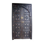 Sharafa Door - This is a swoon-worthy statement piece. Handmade cedar-inlaid doors straight from Marrakech would make for a dramatic entry into any room, or they could be dividers if mounted on sliders, or even artwork if mounted on the wall.