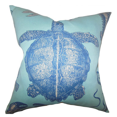 The Pillow Collection - Aeliena Sky Blue 18 x 18 Coastal Throw Pillow - - Pillows have hidden zippers for easy removal and cleaning  - Reversible pillow with same fabric on both sides  - Comes standard with a 5/95 feather blend pillow insert  - All four sides have a clean knife-edge finish  - Pillow insert is 19 x 19 to ensure a tight and generous fit  - Cover and insert made in the USA  - Spot clean and Dry cleaning recommended  - Fill Material: 5/95 down feather blend The Pillow Collection - P18-D-ADRIATIC-SKYBLUE-A100