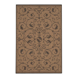 """Couristan - Recife Veranda Rug 1583/2500 - 5'10"""" x 9'2"""" - These weather-defying area rugs are suitable for indoor and outdoor use. You'll love the way they color-coordinate with today's most popular outdoor furniture pieces. The collection's naturally inspired color palette will provide a warmer and more inviting appearance for patio decks and stone entryways."""