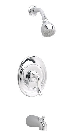 American Standard - Princeton Tub and Shower Faucet with Single-Function Showerhead - American Standard T508.502.002 Princeton Tub and Shower Faucet with Single-Function Showerhead in Polished Chrome.