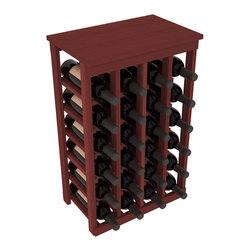 Wine Racks America - 24 Bottle Kitchen Wine Rack in Premium Redwood, Cherry Stain - Petite but strong, this small wine rack is the best choice for converting tiny areas into big wine storage. The solid wood top excels as a table for wine accessories, small plants, or whatever benefits the location. Store 2 cases of wine in a space smaller than most televisions!