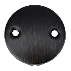 Premier Copper Products - Premier Copper Products D-352ORB Oil Rubbed Bronze Two-Hole Overflow Cover - Premier Copper Products D-352ORB Two-Hole Overflow Cover / Face Plate in Oil Rubbed Bronze