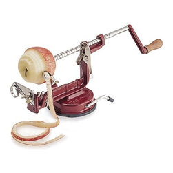 Apple Peeler/Corer - What to do with all those apples after a day in the orchard? Make pie, of course! This contraption makes preparation hassle free. As an added bonus, it also works with potatoes.