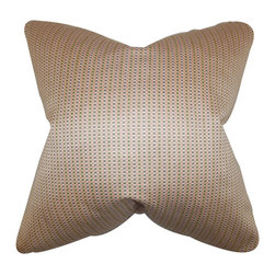"""The Pillow Collection - Adair Geometric Pillow Pink 18"""" x 18"""" - This throw pillow features a gorgeous design and a fitting statement piece to your interiors. This accent pillow features a geometric pattern in shades of pink and green. Decorate your living room or bedroom with this 18"""" pillow. Made of 100% high-quality silk material and crafted in the USA."""