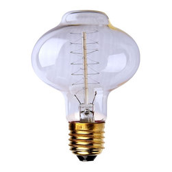 ParrotUncle - 40W E27 Retro Edison Bulb 110V/220V Antique Style Light Tungsten Wire - Each 40W bulb fits a standard light socket, making it an easy, fun alternative to any basic light bulb, maintaining a life span of up to 2,000 hours. Each bulb illuminates with a warm amber glow, filling any space with the utilitarian ambiance reminiscent of the original tungsten filament bulbs of the mid-20th Century.