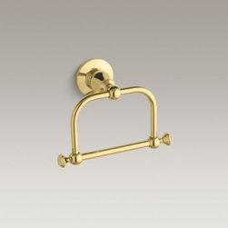 KOHLER - KOHLER Antique traditional towel ring - With classic design touches and a traditional feel, Antique accessories bring nostalgic charm to bath and powder rooms. This towel ring adds a vintage-inspired accent and is constructed of solid brass for unmatched durability.