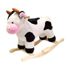 Trademark Global - Black & White Plush Rocking Cow w Wooden Rock - Recommended for ages 2 yrs. old & up. Recommended Weight Limit: 80 lbs.. Soft and plush to the touch. Hand crafted with a hard wood core and stands on sturdy wood rockers. 28 in. L x 14.50 in. W x 23 in. H (13 lbs.). Seat Height: 19 in.This lovable, cuddly bear will be a sure hit with any child. This is much more than your average teddy bear.