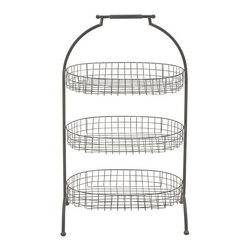 Three-Tiered Party Tray - This three-tiered metal basket tray is a must-have for your next get-together. Toss in chips on the bottom floor, baguette slices in the middle, and meat and cheese offerings on the top. It's like an edible three-ring circus.