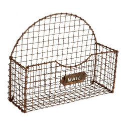 Aiden Gray - Mail Basket, Rust Set of 2 - This little mail catchall could be the secret to turning the pile of mail to go through on your entryway table into a legitimate design statement. After all, you wouldn't want to leave this bin empty, right?