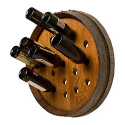 Round Wine Barrel Wine Rack