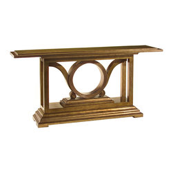John Richard - John Richard Champagne Bronze Savory Console EUR-02-0088 - This classic art deco, inspired console, is finished in lustrous tones of bronze and silver leaf.