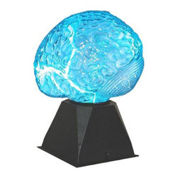 Creative Motion - Brain Plasma Light - Don't get any big ideas - this brain may just do that for you! It will illuminate by the touch of your hand, or by sound. Let its smart light dance to your fingertips, or just enjoy as others take delight in its eerie glow! Perfect for Halloween parties!