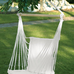 "KOOLEKOO - Cotton Padded Swing Chair - A relaxing way to retreat from the day! Soft cotton padding and gentle rocking motion cradle you in exceptional comfort. Great for use indoors or out. Max Wt.: 200 lbs. Seat: 10.5"" wide."