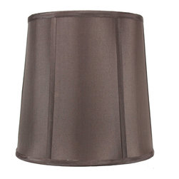 Home Concept - Chocolate Fabric Shantung Drum Deluxe lamp shade 10x12x12 - Celebrate Your Home - Home Concept invites you to welcome your guests with our array of lampshade styles that will instantly upgrade your space