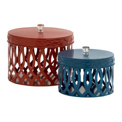 Matchless Metal Acrylic Box, Set of 2 - Description: