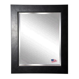 Rayne Mirrors - American Made Black Superior Beveled Wall Mirror - Inviting black creased texture and finish will compliment a wide range of home decor styles, from traditional to rustic, modern and more. Offer a stylish upgrade to your wall space with this stunning wall mirror.  Rayne's American Made standard of quality includes; metal reinforced frame corner  support, both vertical and horizontal hanging hardware installed and a manufacturers warranty.