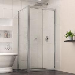 DreamLine - DreamLine SHDR-4530300-RT-01 Butterfly Shower Door - DreamLine Butterfly 30-7/8 in. W x 30-7/8 in. D x 72 in. H Bi-Fold Shower Door, Chrome Finish Hardware