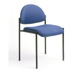 Boss Office Products - Boss Office Products Contemporary Armless Fabric Stackable Chair in Blue - Boss Office Products-Stacking Chairs-B9505BE-The stylishly professional Boss Contemporary Armless Fabric Stackable Chair brings elegance to your office. The variety of fabric colors on this seat ensure you can find one that blends well with your decor. Impress your guests and clientelle with the Contemporary Chair.