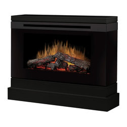 "Dimplex - Dimplex Slater Electric Fireplace Multicolor - DCF44B - Shop for Fire Places Wood Stoves and Hardware from Hayneedle.com! Discover the beauty and convenience of lifelike fireless flame with the Dimplex Slater Electric Fireplace. This eco-friendly energy-efficient fireplace uses Dimplex's patented technology to create an active flame effect with visual depth plus the added warmth of a thermostat-controlled fan-forced heater. Patented LED logs complete the performance with pulsating embers that glow in coordination with the flame effect. Beautifully crafted from wood veneers and durable MDF in a black finish and accented with romantic smoked glass this beautiful electric fireplace comes with a remote control for easy use with or without heat. About DimplexDimplex North America Limited is the world leader in electric heating offering a wide range of residential commercial and industrial products. The company's commitment to innovation has fostered outstanding product development and design excellence. Recent innovations include the patented electric flame technology - the company made history in the fireplace industry when it developed and produced the first electric fireplace with a truly realistic ""wood burning"" flame effect in 1995. The company has since been granted 87 patents covering various areas of electric flame technology and 37 more are pending. Dimplex is a green choice because its products do not produce carbon monoxide or emissions."