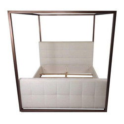 Contemporary Hollywood Canopy Bed - King - Dimensions 20.0ʺW × 97.0ʺD × 92.0ʺH