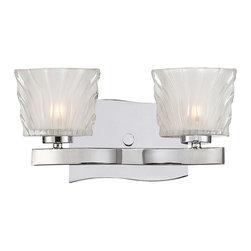 savoy house - Savoy House Carina 2 Light Vanity Light in Chrome 8-236-2-CH - Bulbs are included.