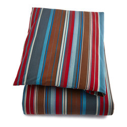 "Pine Cone Hill - King Chalet Stripe Duvet Cover 102"" x 88"" - RED/BLUE (KING) - Pine Cone HillKing Chalet Stripe Duvet Cover 102"" x 88""Designer About Pine Cone Hill:Pine Cone Hill designed by Annie Selke is a collection of bed linens with Selke's signature charming prints and patterns. The designer began making her Pine Cone Hill linens with a sewing machine on her dining room table. Today the collection has fans across the country who love the line's easy sophistication."