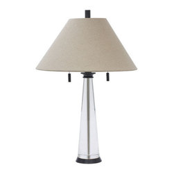 House of Troy - House of Troy M552-OB Marquis 2 Light Table Lamps in Oil Rubbed Bronze - Oil Rubbed Bronze and Round Tapered Crystal Table Lamp