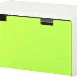 Ebba Strandmark - STUVA Storage bench - Storage bench, white, green