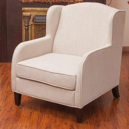 Christopher Knight Home - Christopher Knight Home Tilly Natural Fabric Club Chair - With its wide stance and overall soft padding,the Tilly Natural Fabric Club Chair is stunning in its simplicity.