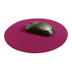 The Felt Store - 10 Inch Round Mousepad Fuchsia - The 10 inches Round Designer Felt Mousepad is made of 100% Virgin Wool Designer Felt at 3mm thick. This mousepad adds personality to any work station. Add some natural beauty to your office or desk! Available in Teal, Mango and Fuchsia.