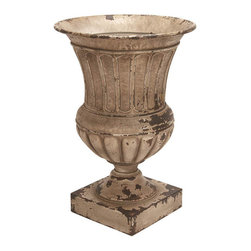 Benzara - Metal Planter Vase 26in.H, 18in.W Patio Accents - Size: 18 Wide x 18 Depth x 26 High (Inches)
