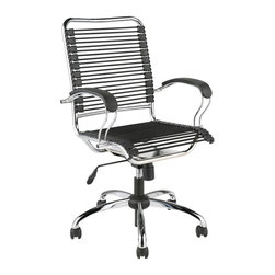 """Eurø Style - Bungie J-Arm Office Chair - Featuring a unique """"J"""" arm design, this Bungie Office Chair by Eurø Style is an attractive complement to your home/office."""