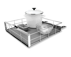 simplehuman - 20 Inch Pull-Out Cabinet Organizer - Reduce clutter and maximize your storage space with this handy pull-out cabinet organizer. The heavy-gauge steel basket slides out on commercial-grade ball-bearing tracks, letting you easily access items in the back of your cabinet. The removable drip tray protects surfaces from spills and leaks.