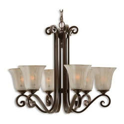 Uttermost 21179 Lyon 6-light Chandelier - Bronze