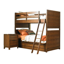 Hooker Furniture - Hooker Furniture Opus Designs Carter Bunk Bed in Brown - Hooker Furniture - Bunk Beds - 151346966 - Create your own personal living space that feels like a studio apartment. Carter's grown up style design longevity and flexible bunching pieces will help you create a place for relaxing hanging out watching TV or computing.