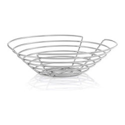 Blomus - WIRES Basket, Large - The WIRES Basket provides ample space for storing food and other goods with a modern twist. Its wire shapes create an elegant, contemporary basket that's so irresistibly beautiful, you may just find yourself admiring your fruits like a still-life painting.