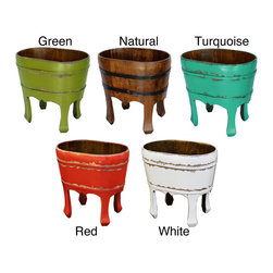 Antique Revival - Woodard Decor 4-legged Bucket - Update your home decor with this vintage 4-legged bucket and brighten up any setting. Great for storing loose items while accenting your decor.