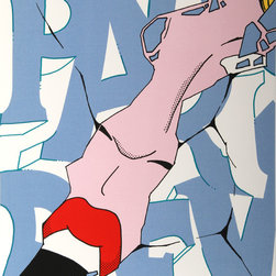 John Crash Matos, Paris Review (Scream), Serigraph - Artist:  John Crash Matos, American (1961 - )