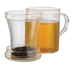 EPOCA - Personal Tea Maker (12 oz Mug, Loose Tea Infuser, Lid and Flowering Tea) - The Primula Personal Tea Maker is designed to provide the perfect mug of brewed tea. Each tea maker includes a transparent mug made of hand-blown borosilicate glass along with a glass infuser and lid. This glass is specially crafted to retain heat and freshness longer while continuing to provide crystal clear clarity. This tea maker is the ideal choice when savoring a flowering tea and watching the bloom unfold right in your cup. Or enjoy steeping your favorite loose tea by inserting the infuser into your personal mug and topping it with the lid. Within minutes, you'll be savoring your own delightful individual brew made just for you. Each individual tea maker holds 12 oz. of liquid and is stovetop and dishwasher safe, as well as microwavable. It is easy to clean and will not stain. Primula's Hand-blown Glass Tea Maker includes a flowering tea sample so you can enjoy a fresh mug of beautiful tea right out of the box.