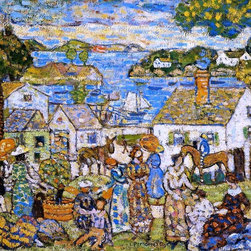 """Maurice Prendergast New England Harbor - 16"""" x 20"""" Premium Archival Print - 16"""" x 20"""" Maurice Prendergast New England Harbor premium archival print reproduced to meet museum quality standards. Our museum quality archival prints are produced using high-precision print technology for a more accurate reproduction printed on high quality, heavyweight matte presentation paper with fade-resistant, archival inks. Our progressive business model allows us to offer works of art to you at the best wholesale pricing, significantly less than art gallery prices, affordable to all. This line of artwork is produced with extra white border space (if you choose to have it framed, for your framer to work with to frame properly or utilize a larger mat and/or frame).  We present a comprehensive collection of exceptional art reproductions byMaurice Prendergast."""