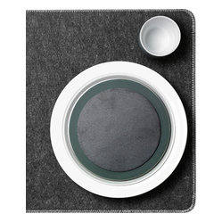 MENU - Felt Placemats, Set of 4 - The natural felt fibers in these placemats make them perfect for a clean and sophisticated table setting. The Scandinavian design means they'll easily mix and match with countless dish styles. And you can simply wipe them clean with a cloth and they are ready for their next use.