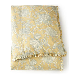 """French Laundry Home - King Toile Duvet Cover 108"""" x 95"""" - CITRINE/BR - French Laundry HomeKing Toile Duvet Cover 108"""" x 95"""""""