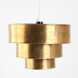 Brass Tiered Pendant - Wow, I'm really impressed with this brass pendant from Urban Outfitters! I can't speak to its quality as I've never seen it in person, but if you're looking for an inexpensive way to add a bit of on-trend brass to your home, I'd mark this down for consideration.