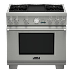 "Thermador 36"" Pro Grand Gas Range, Stainless Steel Liquid Propane 