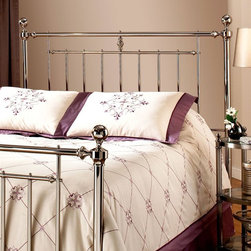 Hillsdale Furniture - Holland Headboard in Nickel Finish (Full/Quee - Choose Size: Full/QueenFor residential use. Premium Brown full/queen 5 leg with large glides. Full/Queen: 62.75 in. W x 56.75 in. H. King: 78 in. W x 56.75 in. H. Frame: 83.5 in. L x 78 in. WThe Shiny Nickel finish and cannonball finials are the hallmarks of the Holland bed. It makes a wonder addition to any Master bedroom or guest room.