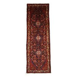 eSaleRugs - 3' 7 x 11' 1 Koliaei Persian Runner Rug - SKU: 110886394 - Hand Knotted Koliaei rug. Made of 100% Wool. 30-35 Years.