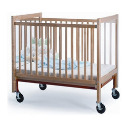 Whitney Bros Co - Whitney Brothers I See Me Infant Crib - WB9504 - Shop for Cribs from Hayneedle.com! Baby is always in sight with the Whitney Brothers I See Me Infant Crib. Supported by a solid maple frame this crib features a safe acrylic mirror permanently mounted to one inside panel. This mirror helps caregivers see baby's face no matter which way she's lying. And it doesn't hurt that baby will enjoy entertaining herself in the mirror too. On the other end of the crib is a clear non-distorting acrylic panel increasing visibility. This crib comes complete with a 3-inch thick vinyl-covered foam mattress and the mattress support adjusts to 3 levels. Four casters make the crib easy to move when you need to and they lock when the crib shouldn't move. This crib arrives ready to assemble. It's made in the USA and is GreenGuard. This crib has a Limited Lifetime warranty. About Whitney BrothersSince 1904 Whitney Brothers been using classic cabinetmaking techniques to produce safe and sturdy educational toys. Now they're also a leader in developing versatile innovative furniture and storage systems for schools day-care centers and private homes. When they design and manufacture their educational toys and furniture Whitney Brothers uses the finest hardwoods and veneers and traditional joinery methods for extra strength. Edges and corners are always rounded smoothly and finished by hand. All of their glues paints and finishes are nontoxic and easy to clean.