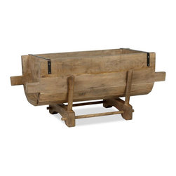 Wood Trough - I'd use this wooden trough to store blankets in the living room.