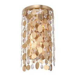 Crystorama Lighting - Crystorama Lighting 561-GA Bella Eclectic Sconce in Antique Gold - Crystorama Lighting 561-GA Bella Eclectic Sconce In Antique Gold With Metal Lenses + Hand Cut Crystal